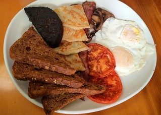 Scottish breakfast at Shine Cafe   by Ruth and Dave