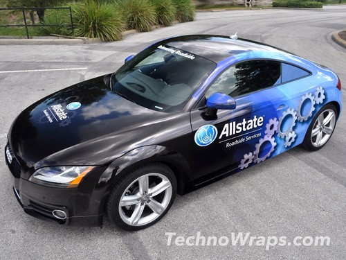 Audi TT car wrap designed by TechnoSigns