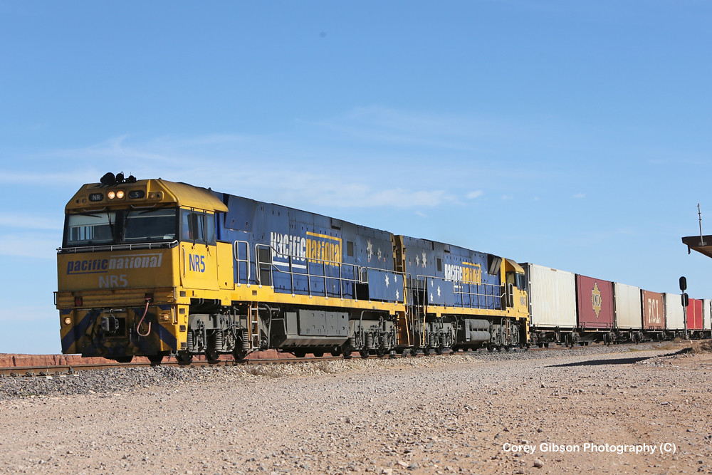 NR5 & NR43 roll into Spencer Junction with the 2PS6 by Corey Gibson