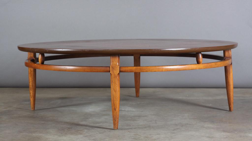Large Round Mid Century Danish Modern Lane Coffee Table Wi Flickr