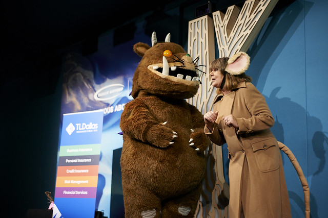 Julia Donaldson with The Gruffalo!