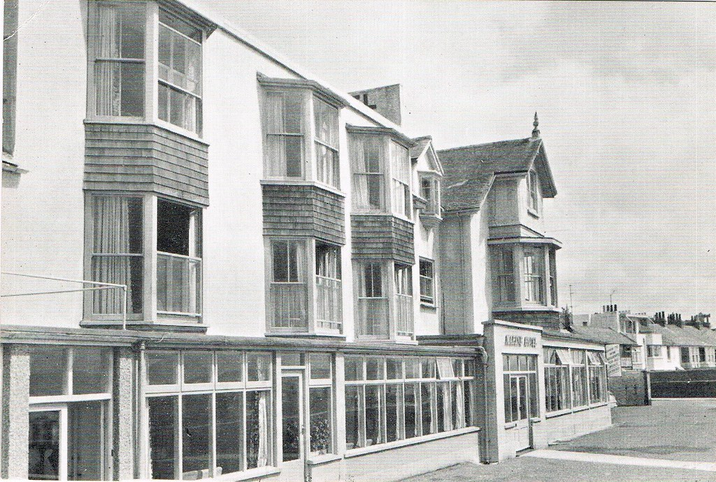 Black And White Postcard From >> Marine Hotel Penzance Black And White Postcard From The M Flickr