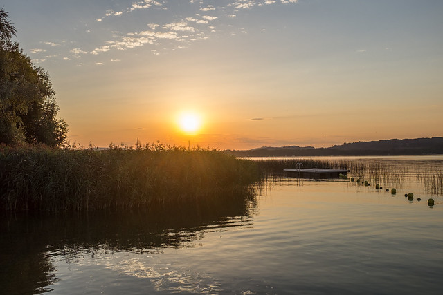 sunrise at lake Murten