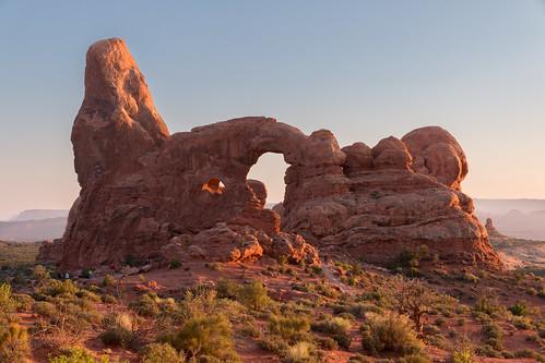 moab utah unitedstates turretarch archesnationalpark moabutah usa windowsarches canon canon70d canon1585 goldenhour hdr lightroomhdr