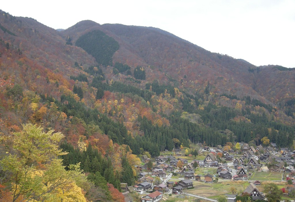 View from lookout above Shirakawaga village