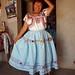 Enriqueta Flores-Guevara con vestido y blusa típica de San Andrés Solaga, Districto Villa Alta, Región Sierra Juárez, Oaxaca, Mexico por Lon&Queta