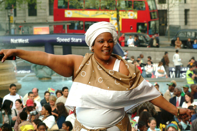 DSCF3636 South African Freedom Day The Birth of a Nation Tenth Anniversary Celebration Mayor of London Trafalgar Square April 27 2004 Deborah Fraser Gospel Singer