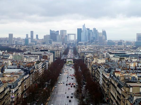 La Defence from the Arc De Triomphe (Explored)