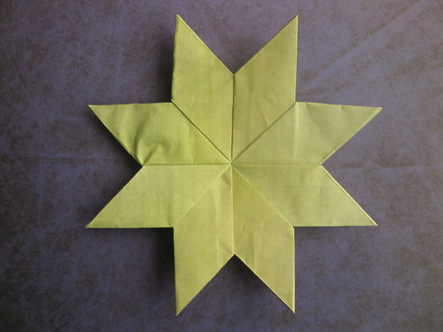 John Montroll's Eight-Pointed Star | by georigami