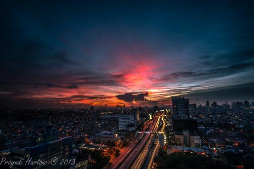 sunset twilight dusk jakarta d800