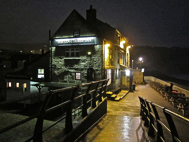 The Cove House Inn at night