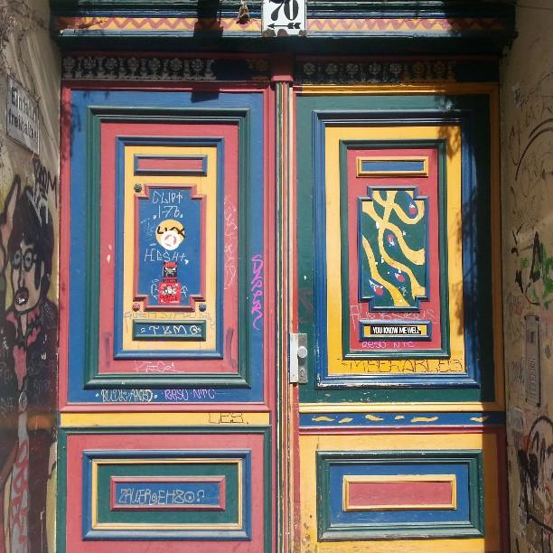 colourful door, Auguststraße, Berlin
