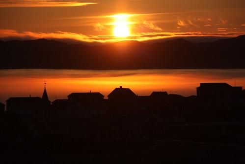 summer sun sol fog soleil sommer greenland midnight midnightsun grønland nuuk sól grönland groenlande kalaallitnunaat grænland godthåb