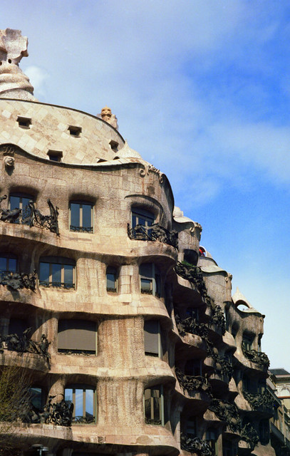 The organic form of the Casa Mila
