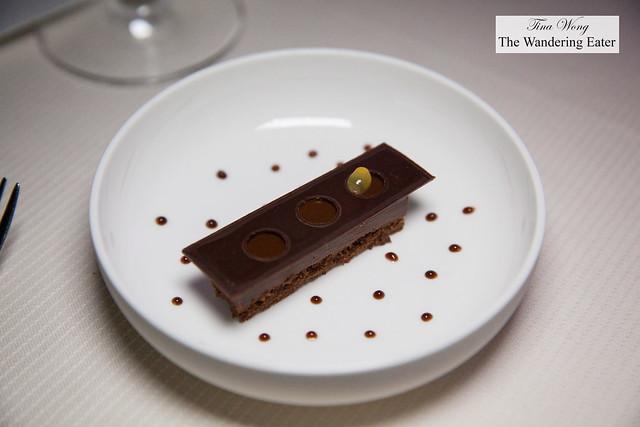 """Variation of chocolate maracudia """"Three Ways"""""""