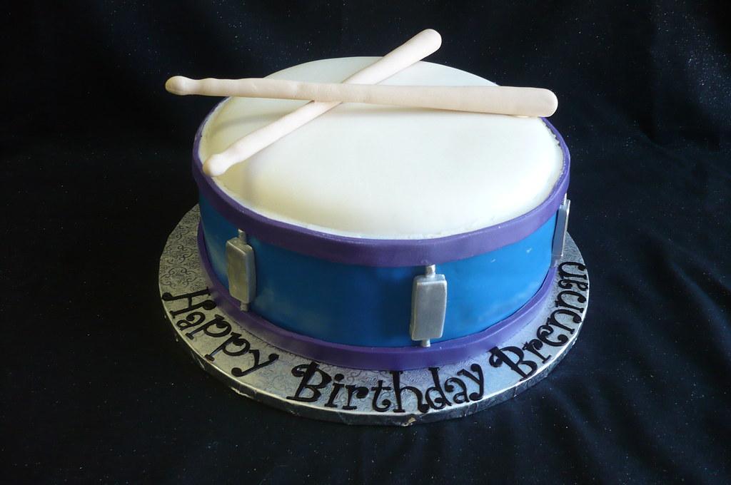 Amazing Snare Drum Birthday Cake Vanilla Cake With Vanilla Butterc Flickr Personalised Birthday Cards Paralily Jamesorg