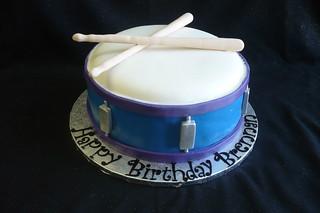 Remarkable Snare Drum Birthday Cake Vanilla Cake With Vanilla Butterc Flickr Funny Birthday Cards Online Aboleapandamsfinfo