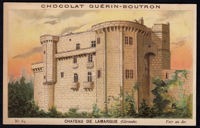 French Tradecard - Chateau de Lamarque