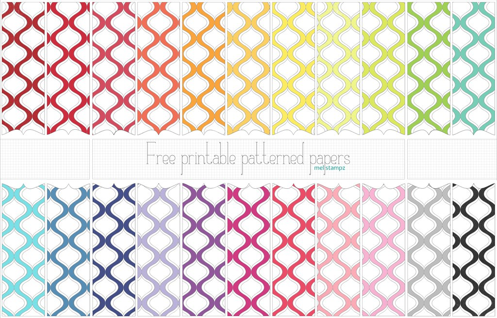photo about Printable Patterned Paper named Decorative determine - absolutely free printable electronic patterned pape