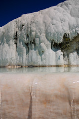Flowing water in Pamukkale, Turkey