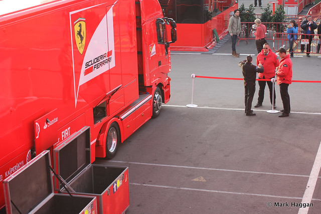 The Ferrari paddock area at Formula One Winter Testing, 3rd March 2013
