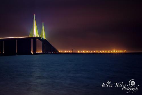 ocean bridge light sky water sunshine night landscape photography ellen florida picture fl hdr skyway yeates