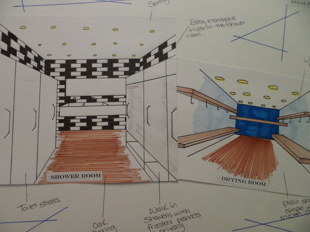 diagram of bunkhouse bunkhouse areas sketches of the communal bathroom and dry     flickr  sketches of the communal bathroom and