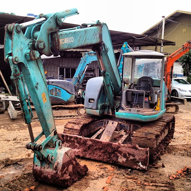 Kobelco #SK75UR #Offset #blade #construction #equipment