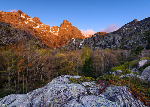 visitportugal trees forest rocks cresende manteigas portugal ametade covao sky sunrise color landscape snow view over d810 nikon hillside mountain woods zezere bucolic poetic