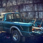 Turquoise Pickup Truck