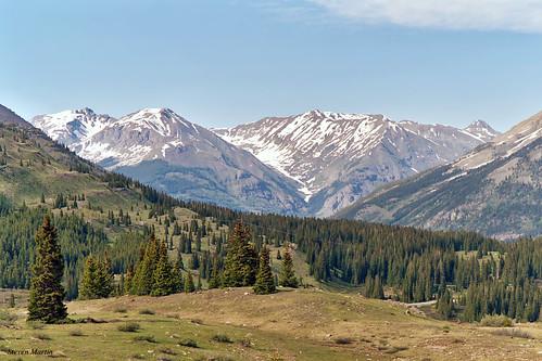 landscape scenery mountainrange mountains meadow colorado