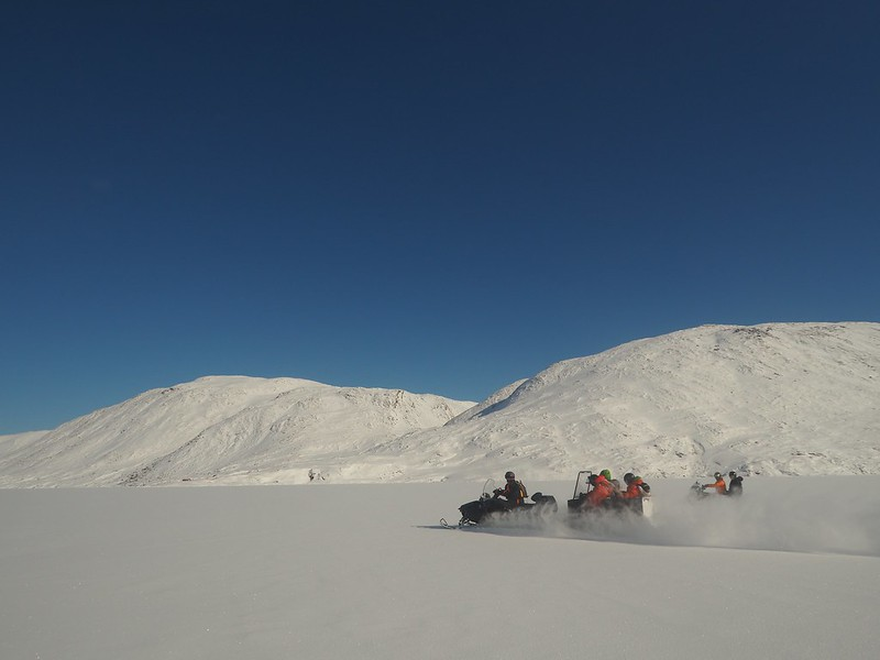 Snowmobile ride. The journey in to the hut takes 2 to 3 hours, depending on weather and snow conditions.