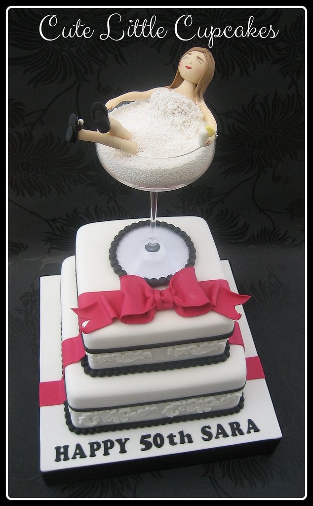 Stupendous Cocktail Glass 50Th Birthday Cake Heidi Stone Flickr Birthday Cards Printable Inklcafe Filternl