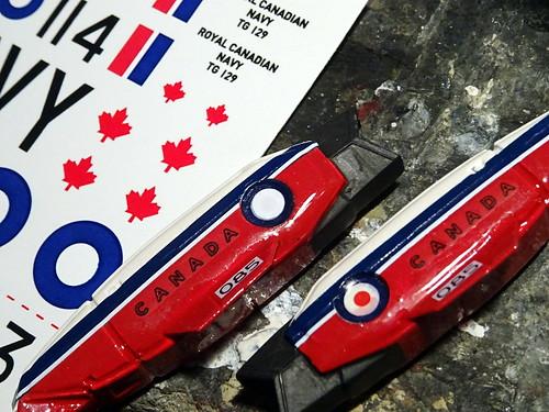 "1:100 Stonewell/Bellcom VF-1A Valkyrie, ""085/3"" of the Canadian 'Snowbirds' demonstration team, 2018 (ARII kit, unofficial fan art version) - WiP | by dizzyfugu"