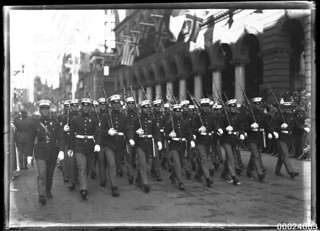 United States Marines marching through Martin Place, Sydney