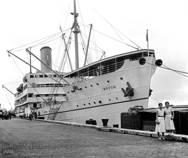 SS Mayon, Pier 3, Manila, Philippines, preparing to leave for Mindanao and way ports south, August 22, 1933