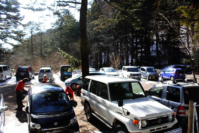 雲竜渓谷の駐車場