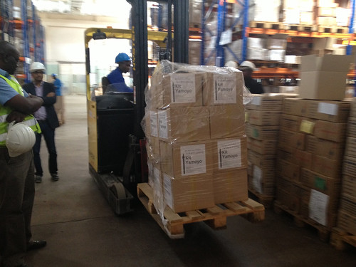 Kit Yamoyo cartons inside the MSL warehouse in Lusaka | by ColaLife