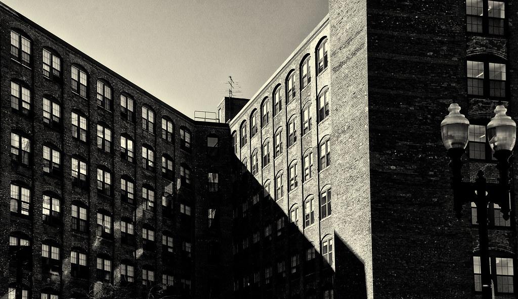 Sun on Repurposed Factory Building_