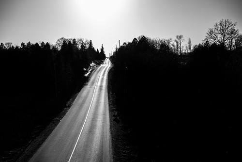 road cambridge sunset blackandwhite ontario canada helicopter breslau hespeler aerialg