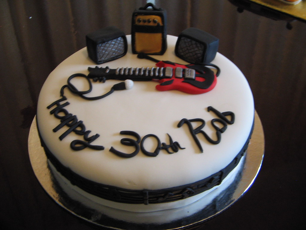 Enjoyable Music Birthday Cake A Good Friend Of Mine Asked For A Cake Flickr Personalised Birthday Cards Bromeletsinfo
