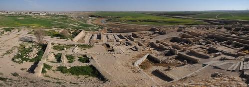 archaia beersheva ironage israel negev site panorama