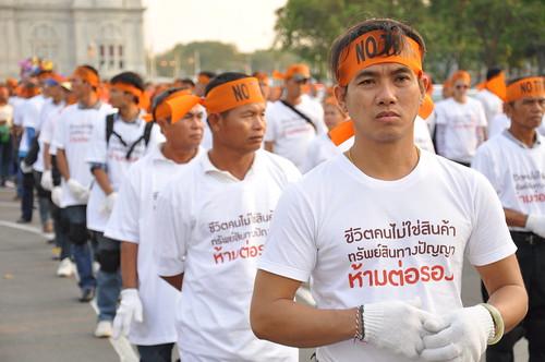 Demonstration in Thailand gegen EU-Thailand-Freihandelsabkommen. 28.2.2013.   by Aktionsbündnis gegen Aids