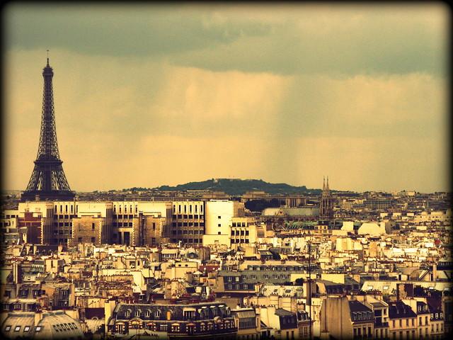 View across Paris, France