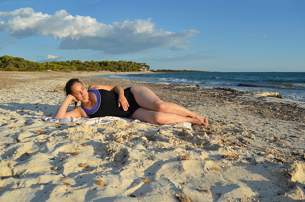 Bathing in Mallorca - Es Trenc natural beach | My wife