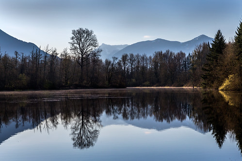 morning trees lake mountains reflection nature landscape spring pond pacific northwest mark iii perspective 5d atmospheric snoqualmie 24105 f4l