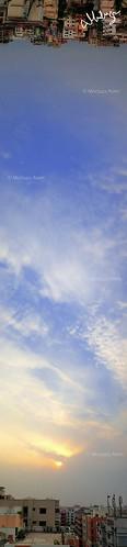 city blue sunset sky cloud sun landscape dhaka bangladesh panaroma uttara flickrunitedaward