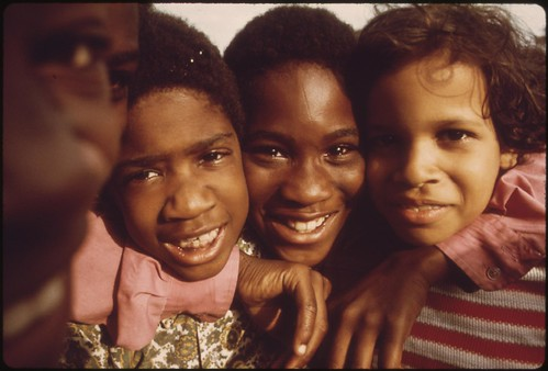 Minority Youngsters Who Gathered To Have Their Picture Taken On Chicago's South Side During A Community Talent Show, 08/1973 | by The U.S. National Archives