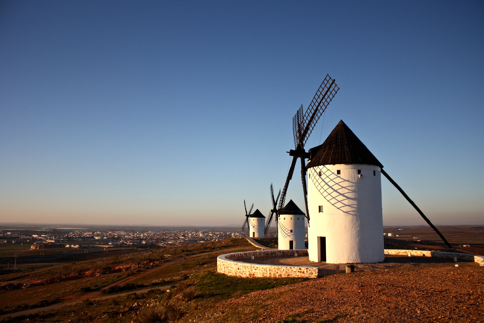 Windmills in Alcázar de San Juan, Spain