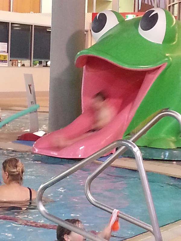 Going down the frog slide #happy365